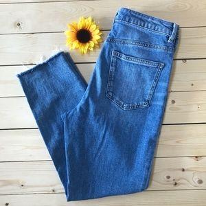 ASOS Raw Hem Skinny Jeans